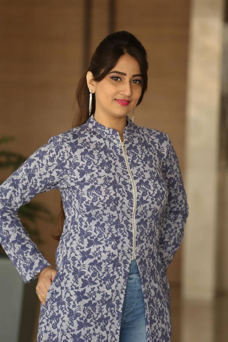 Manjusha Stills In Blue Dress