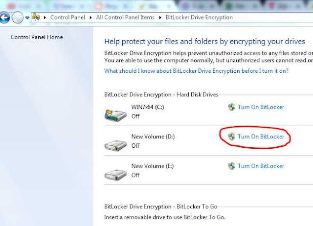 BitLocker encrypts data