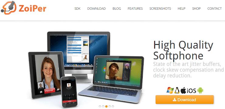 Zoiper VoIP softphone