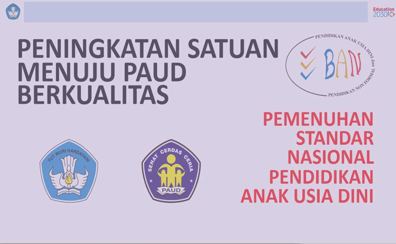 Download 8 Standar Nasional Akreditasi PAUD TK RA 2019