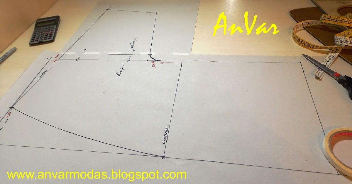 AnVar - Modistería: BATA DE BAÑO - Trazo del patrón básico