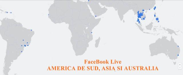 facebook live romania harta cu cine este online