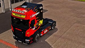 NASCAR paint job for Scania RJL (EviL)