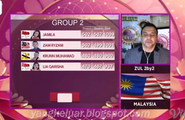 DA Asia 4 Top 24 Besar Grup 2 Tadi Malam