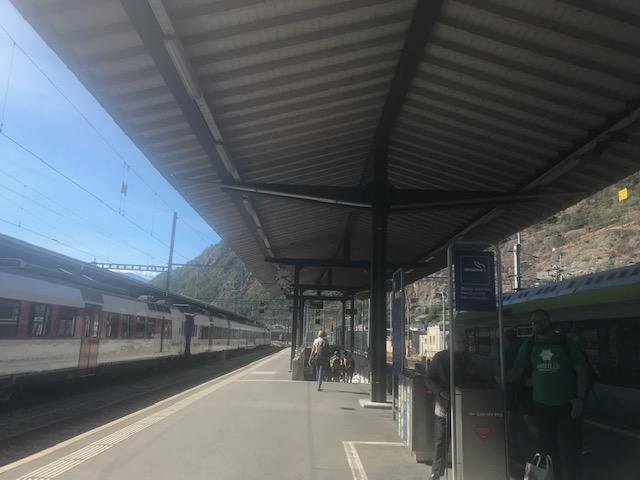 スイス鉄道・ブリークの駅