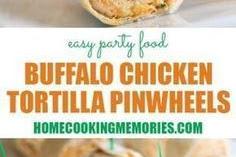 Buffalo Chicken Tortilla Pinwheels Recipe