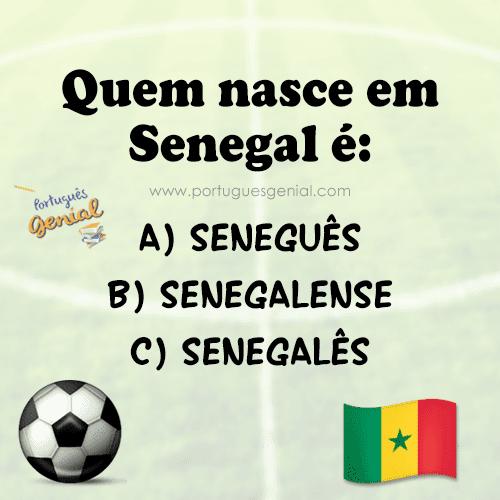 Como se chama quem nasce no Senegal?