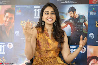 Rakul Preet Singh smiling Beautyin Brown Deep neck Sleeveless Gown at her interview 2.8.17 ~  Exclusive Celebrities Galleries 134.JPG