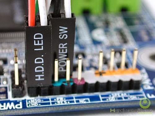cables de encendido power sw power led reset