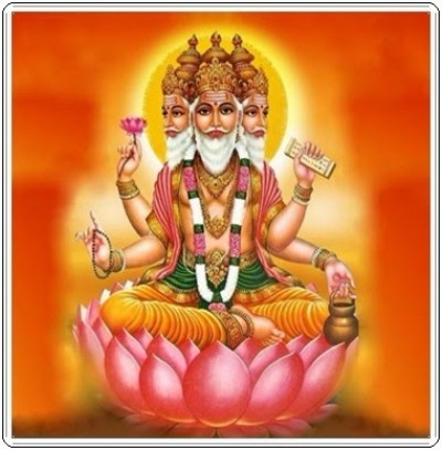 Hindu lord brahma
