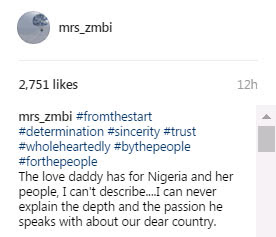 Zahra Buhari: I can't describe the love my daddy has for Nigeria
