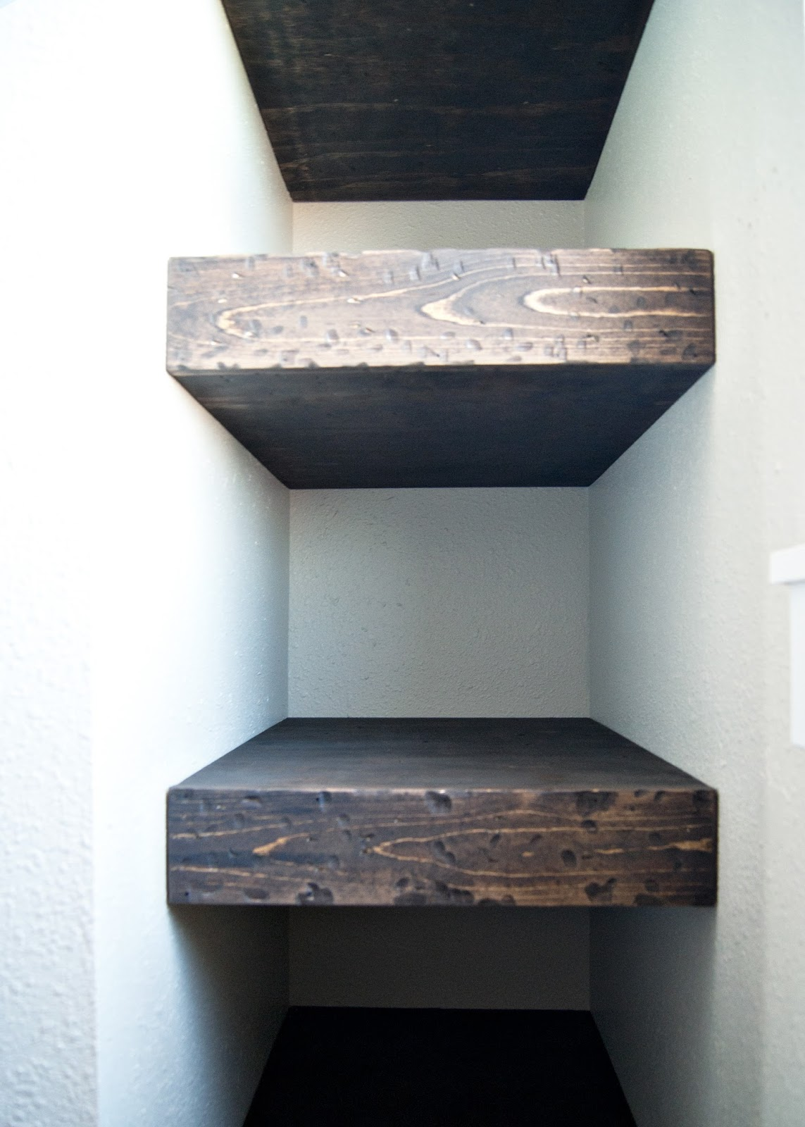 Project Kid S Bathroom Diy Chunky Wood Floating
