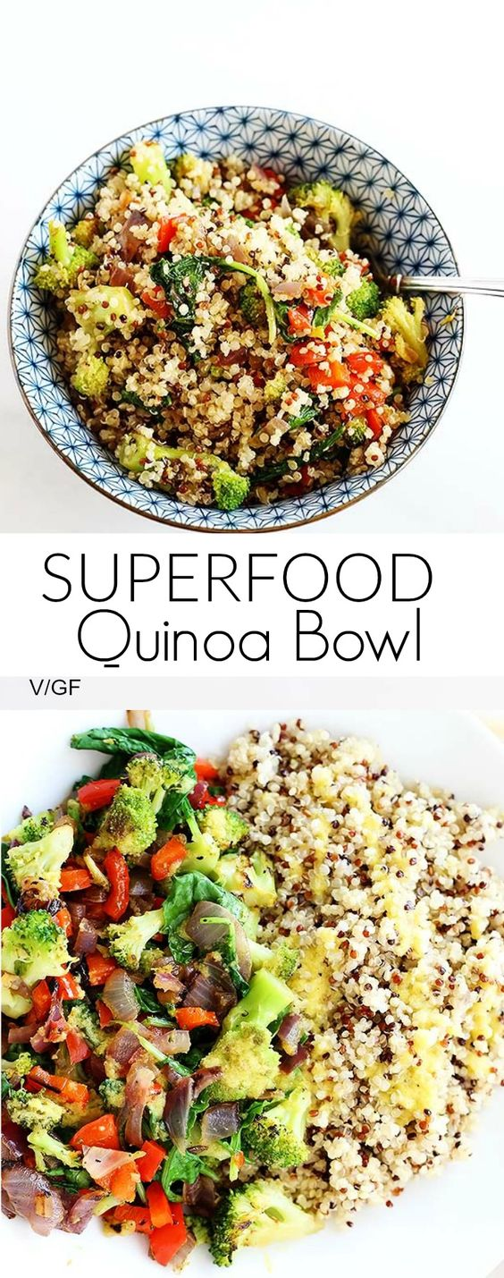 Superfood Quinoa Bowl is quick and easy, perfect dinner or lunch, packed full of healthy superfoods! VEGAN + GF