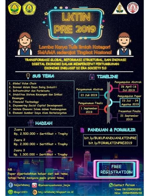 Lomba Karya Tulis Ilmiah Pelajar SMA/MA/SMK/Sederajat Nasional 2019
