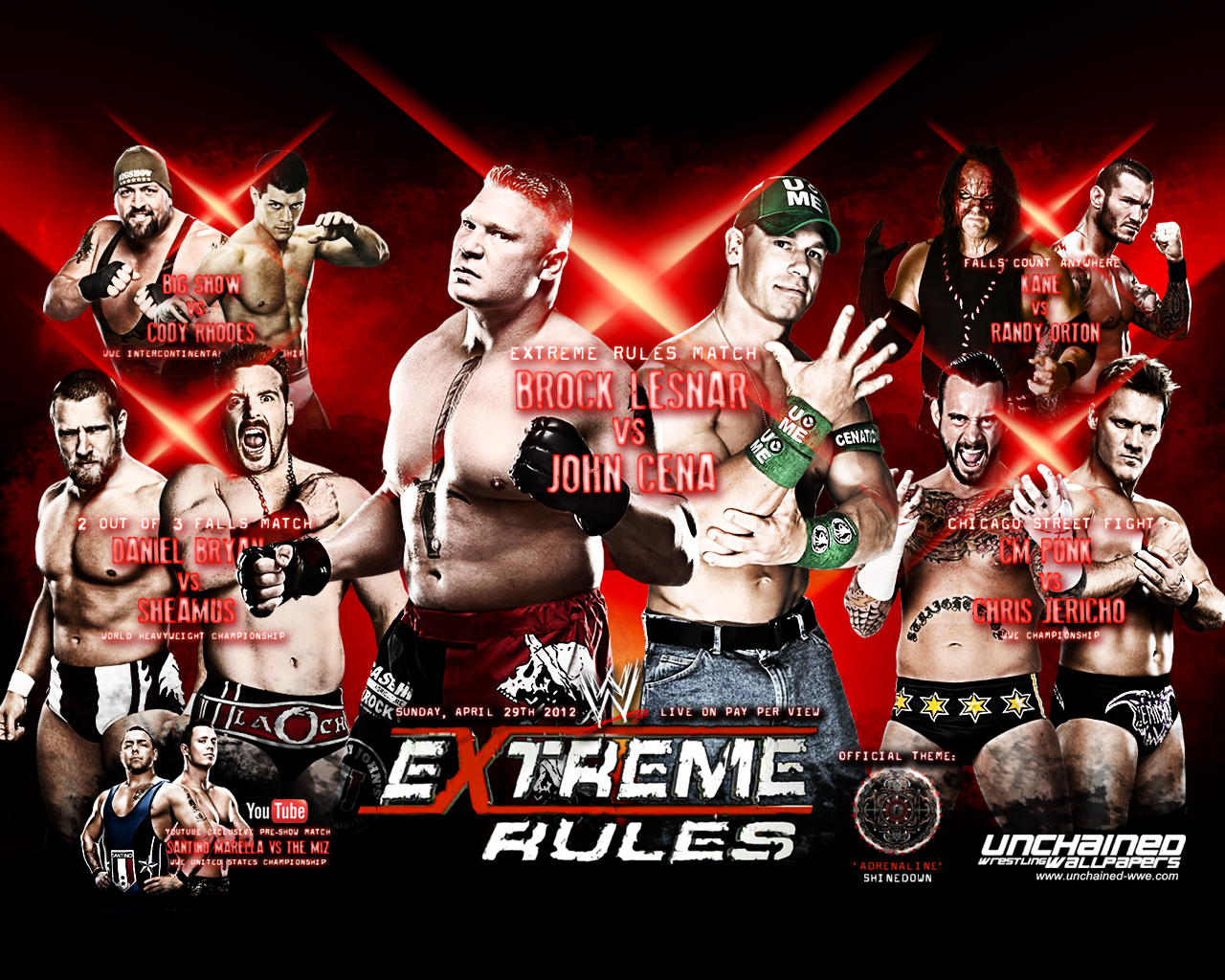 Wwe ppv wallpapers 2009 wallpaper202 - Night of champions 2010 match card ...
