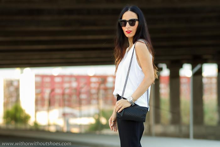 Look urbano blanco y negro Accesorios con personalidad