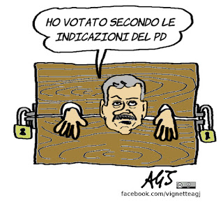 D'Alema, Raggi, Ballottaggi, amministrative, PD, Renzi, satira, vignetta
