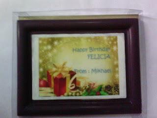cokelat bentuk frame pigura