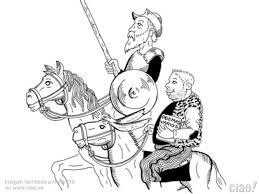 Dibujos para colorear de Don Quijote de la mancha y Sancho Panza