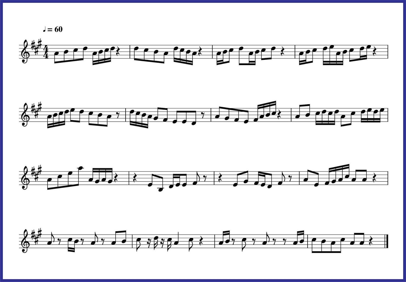 Nada A Baca Not 18 Dan 116 Seputar Musik