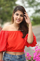 Rhea Chakraborty in Red Crop Top and Denim Shorts Spicy Pics ~  Exclusive 069.JPG