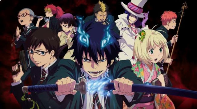 Daftar Film Anime Mirip Fairy Tail - Ao no Exorcist