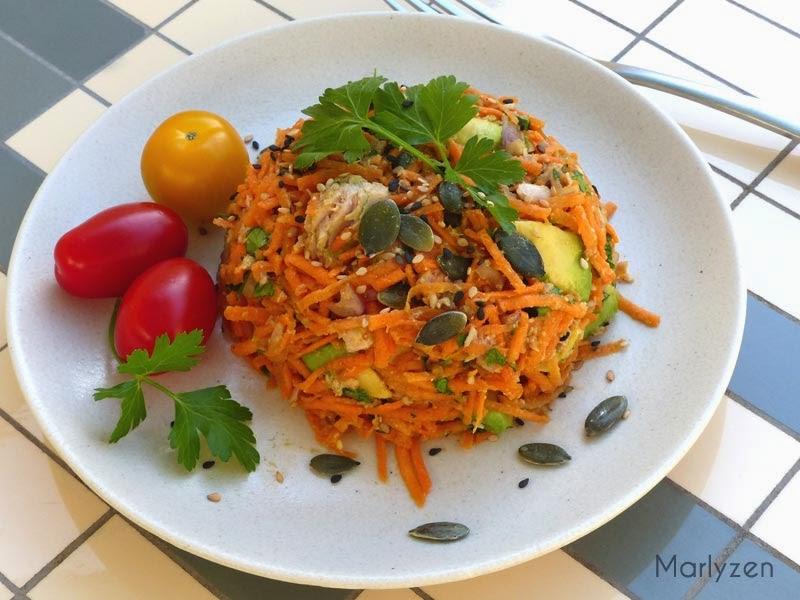 Salade de carottes au thon