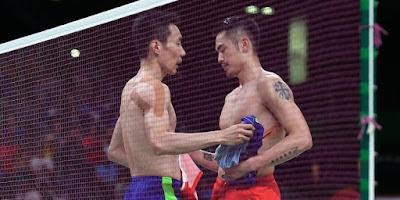 Lee Chong Wei vs Lin Dan di Olimpiade Rio