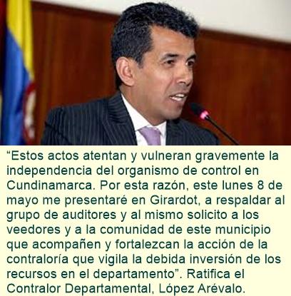 ¡ El Contralor de Cundinamarca denuncia !