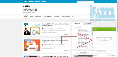Cara Memasang Live Chat Gratis di Blogger - Kanginformasi.com