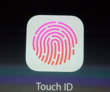 Touch ID. This is the solution offered by Apple. The sensor is 170 microns. It offers a resolution of 500 dpi