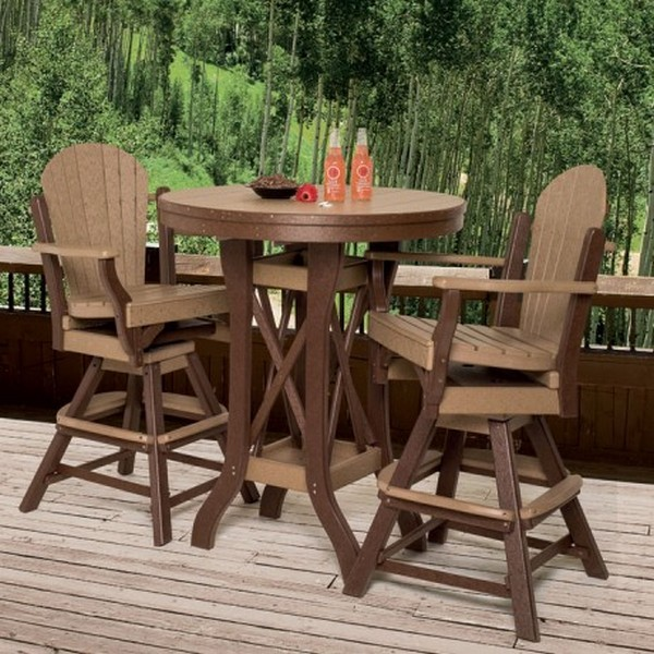 Design outdoor patio pub table and chairs
