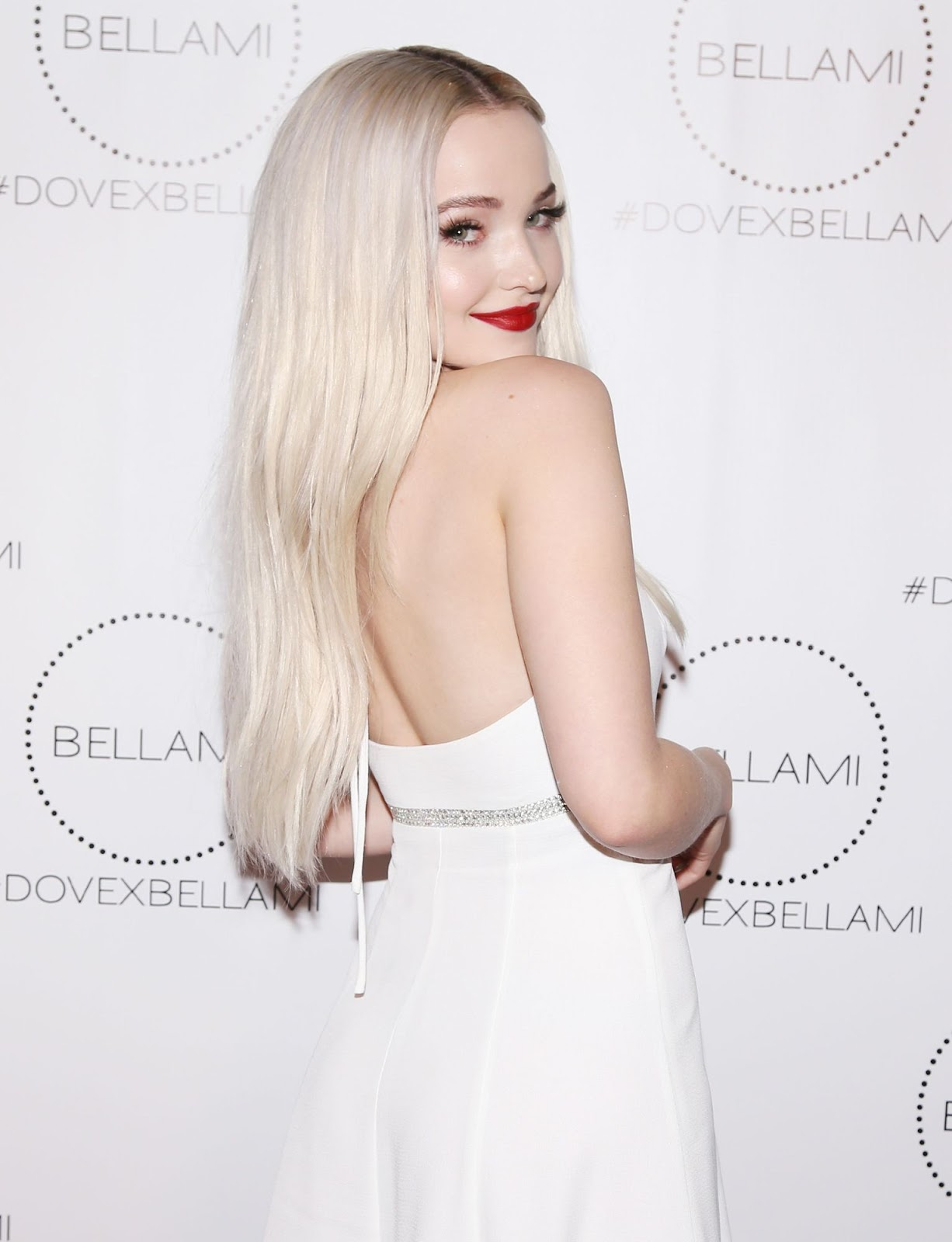 Dove Cameron Arriving at Dove x BELLAMI Collection launch party
