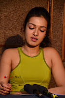 Actress Catherine Tresa Pos during Self Dubbing for Gautham Nanda Movie  0082.JPG