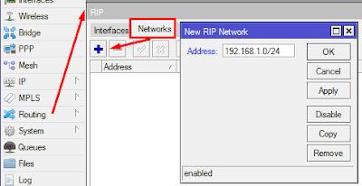 menambahkan network pada routing rip