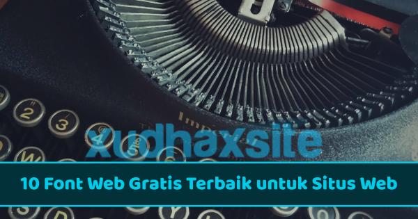 Font web gratis terbaik