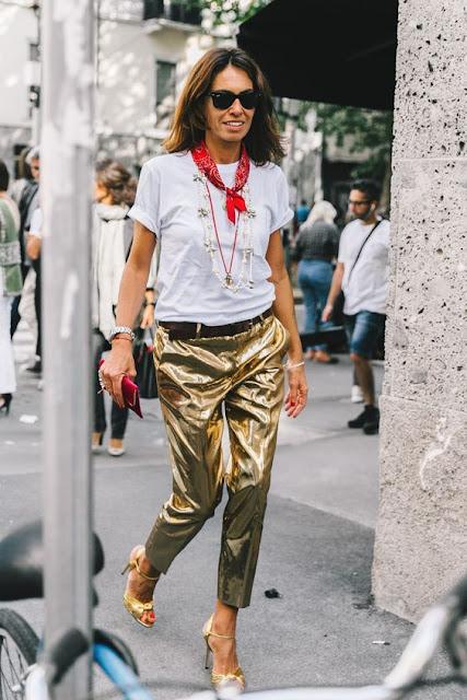 Viviana Volpicella Gold trouser