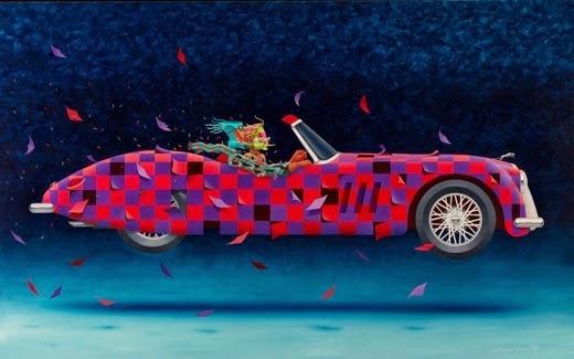 Jaguar - Claudio Souza Pinto e suas pinturas cheias de cor e criatividade