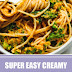 Super Easy Creamy Vegan Pumpkin Pasta #vegan #pasta