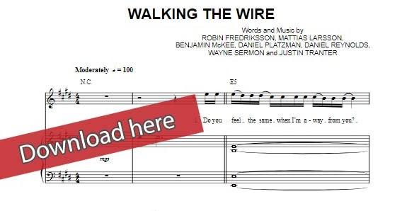 Free Score: Imagine Dragons - Walking the Wire Piano Sheet