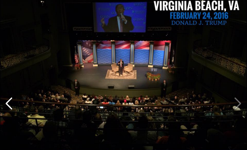 Trump is Right: Donald Trump Regent University Forum in Virginia