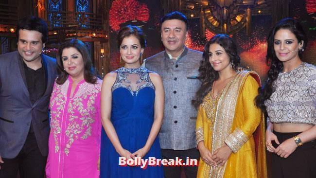 Promotion of film Bobby Jasoos on the sets of 'Entertainment Ke Liye Kuch Bhi Karega', Vidya Balan & Dia Mirza in Punjabi Suits Promote Bobby Jasoos on Entertainment Ke Liye Kuch Bhi Karega