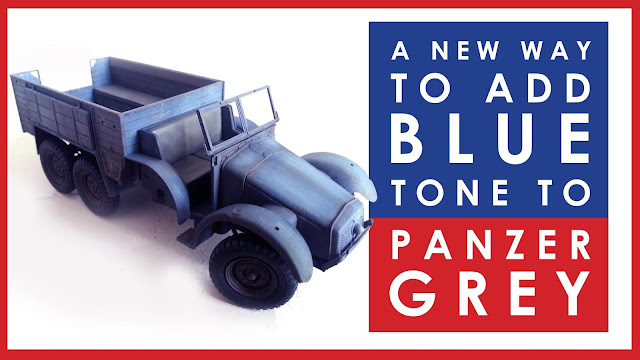 How to add blue tone to Panzer grey on your scale model armor