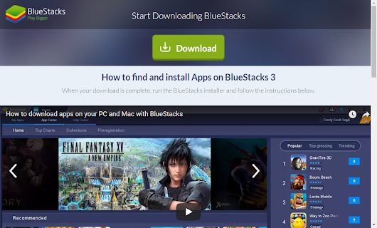 how to download blue stack on pc and install it...