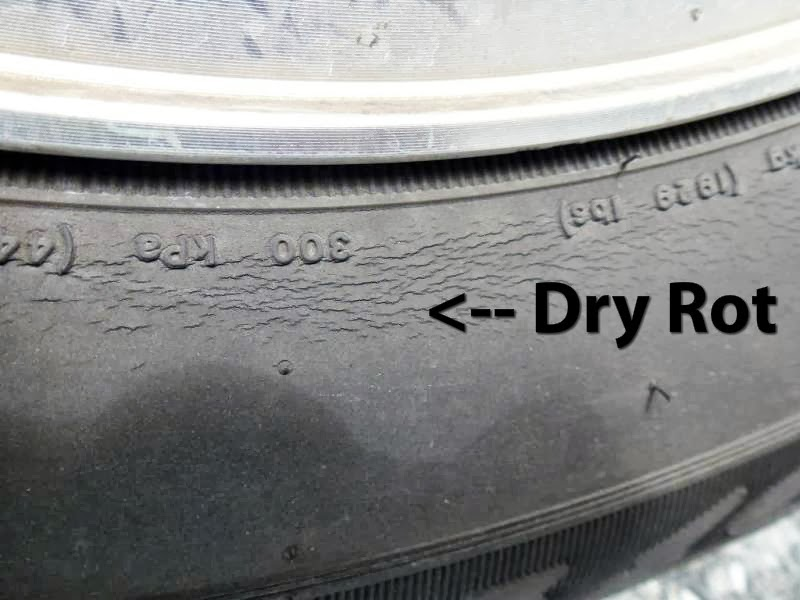 Dry Rot on trailer tires