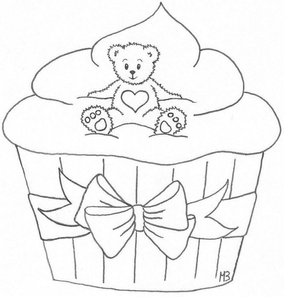 May Brit`s hobbyblogg: Bear-in-a-cupcake freebie :))