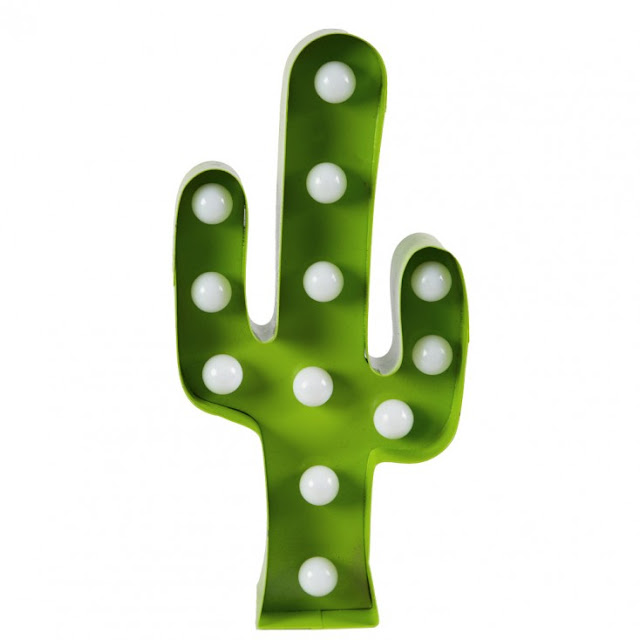 Enseigne lumineuse cactus Sass and Belle - 27€