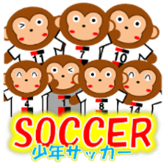 SOCCER CLUB STICKER(monkey)