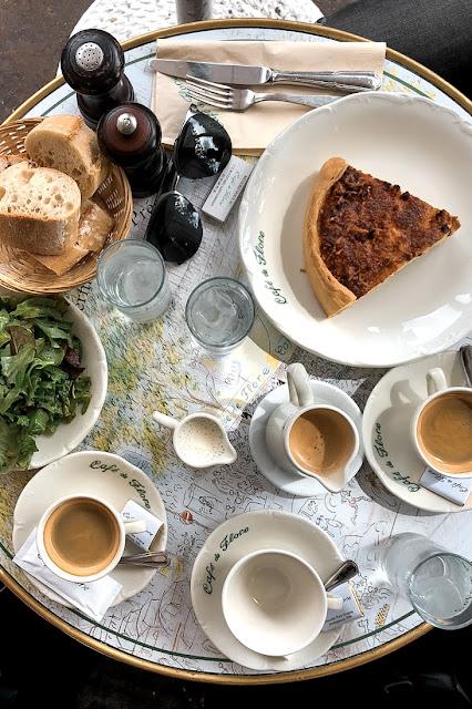Café de Flore in Paris Quiche Lorraine