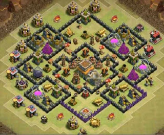 Base Clash of Clans Town Hall 8 Terkuat